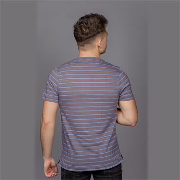 Fawkes Striped T-Shirt, Bobby Blue - Farah