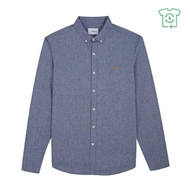 Farah Steen Slim Shirt - Bluebell
