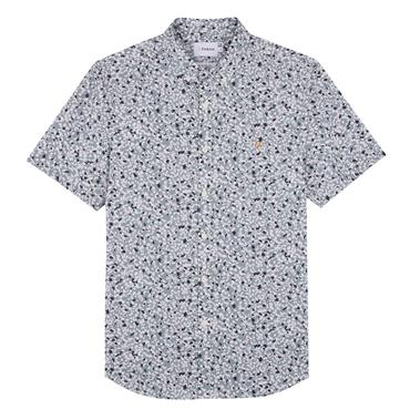 Babilonia Printed Short Sleeve Shirt, Clay - Farah