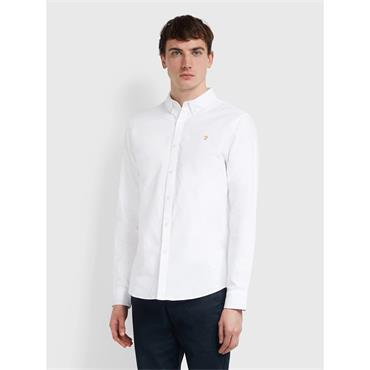 Brewer Slim Fit Shirt - White