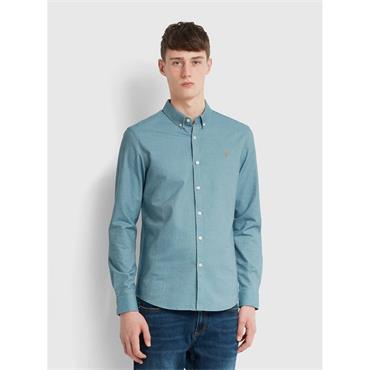 Farah Brewer Shirt - Hudson Blue