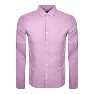 Farah Brewer Shirt - Pink Lavender