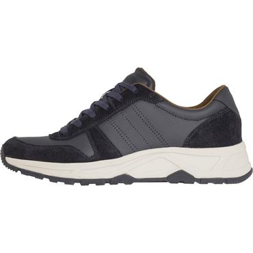 Leather Lightweight Runner - Midnight