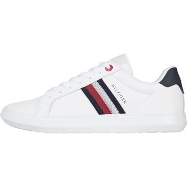 Tommy Hilfiger Essential Leather Cupsole - White