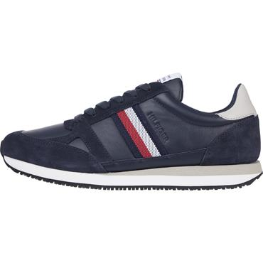 Tommy Hilfiger Lo Leather Runner - Navy