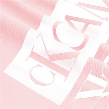 Ck Womens Mirrored Logo Hoody - Pink