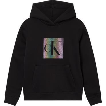 CKJ Womens Refelctive Monogram Hood - Black