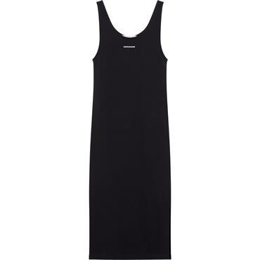 CKJ Micro Branding Stripe Dress - Black