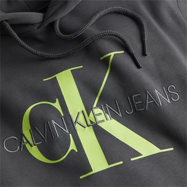 CKJ Seasonal Logo Mono Hood - Grey