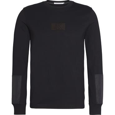 MIXED MEDIA L/S TEE - Black