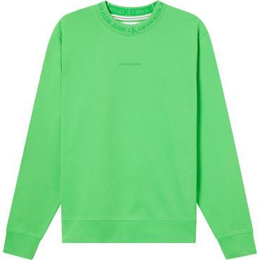 CK Jeans Logo Jacquard Crew - Green