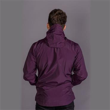 Zip Through Hooded Jacket - Deep Plum