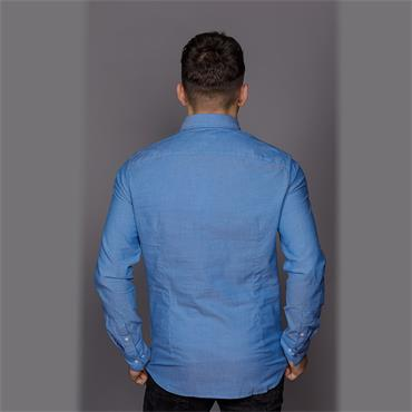 Button Down Washed Shirt - Imperial Blue