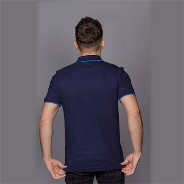 Refined Pique Logo T - Navy Blazer