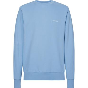 CK Logo Embroidery Sweat - Vista Blue