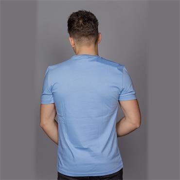 Cotton Chest Logo Tee - Della Robbia Blue