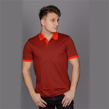 Liquid Touch Stripe Polo Shirt, Red - Penguin