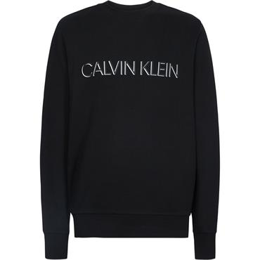 Ck 2 Tone Logo Sweat - Calvin Black