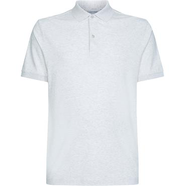 Ck Interlock Slim Polo - Ecru Heather