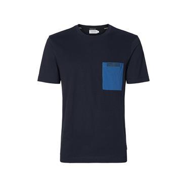 Calvin Klein Contrast Pocket T - Navy