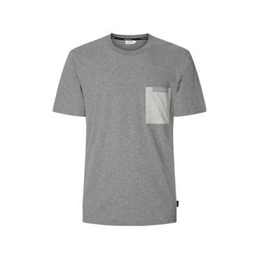 Calvin Klein Contrast Pocket T - Mid Grey