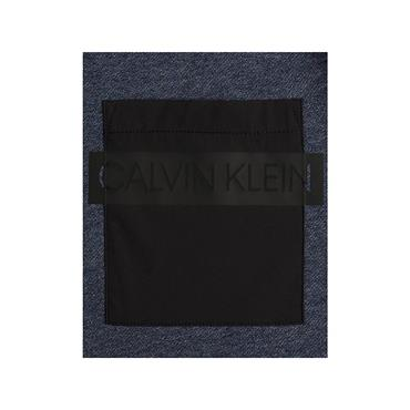 Ck Nylon Pocket Sweat - Navy Heather