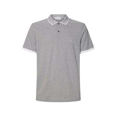 CK Two Tone Logo Polo - Mid Grey