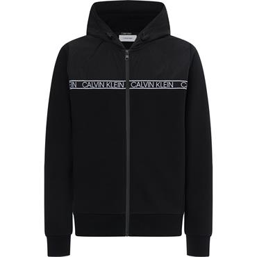 Calvin Klein Mixed Media Hood - Black