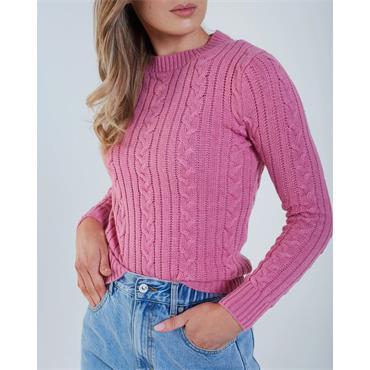 Diesel Elke Cable Knit - Pink Sunset