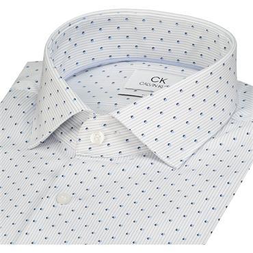 Printed Easy Iron Shirt - AQUARELLE HEATHER