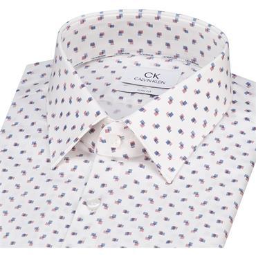 Printed Stretch Slim Shirt - 605