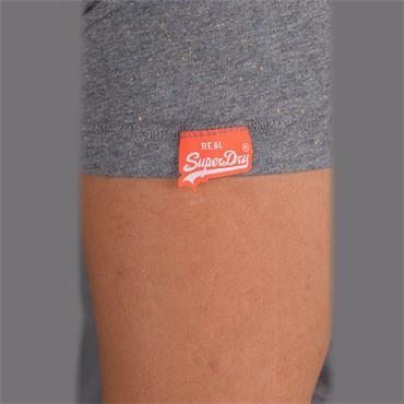 Orange Label Vintage Emb S/s Tee - Hyper Nep Grey
