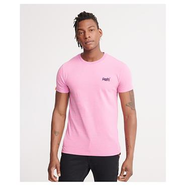 Superdry OL Vint Embroidery T - Neon Pink Space