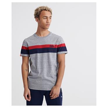 Superdry OL Classic YD Striped T - Collective Dark Grey Grit
