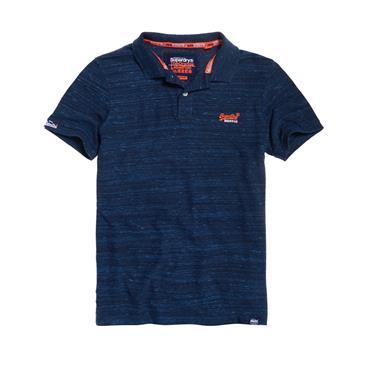 Orange Label Jersey Ss Polo - Navy Fleck