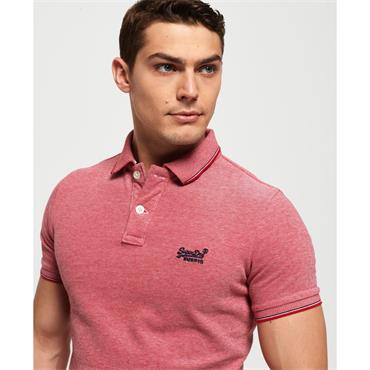 Poolside Pique Polo - Rouge Red Twist