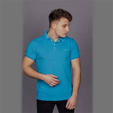 VINTAGE DESTROYED POLO - Beach Blue MARL