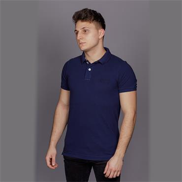 VINTAGE DESTROYED POLO - Beach Navy MARL