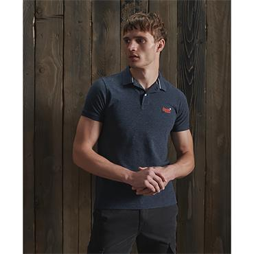 Superdry Classic Pique Polo - Creek Navy Grindle