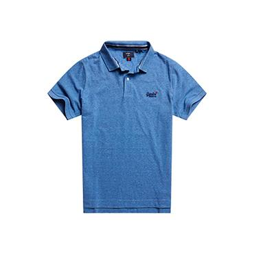 Superdry Classic Pique Polo - Bright Blue Grit