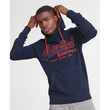 Downhill Racer Applique Hood - Rich Navy