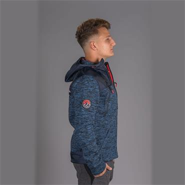 Mountain Ziphood - Indigo Navy Marl