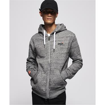 Superdry Orange Label Zip Hood - Flint Grey Grit