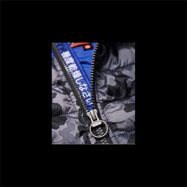 Storm Hybrd Camo Block Ziphood - Black Heather/cobalt