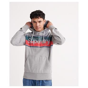 Core Stripe Hood - Grey Marl