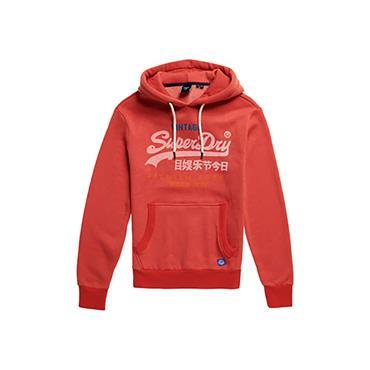 Superdry VL Tri Hood - Red Marl