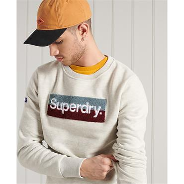 Superdry CL Workwear Sweat - Off White Marl