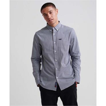 Classic London L/s Shirt - Navy Gingham