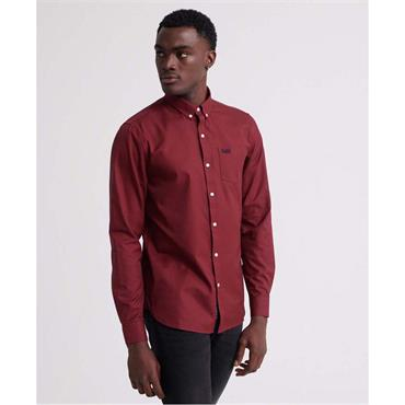 Classic London L/s Shirt - Red Gingham