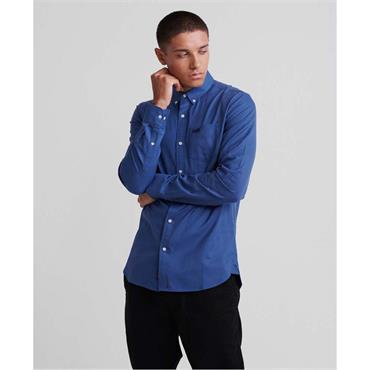 Classic London L/s Shirt - Blue Gingham